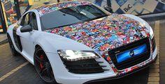 Audi R8 sticker Bomb