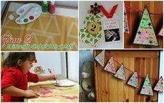 Ghirlanda din braduti pictati - Calendar de Advent ziua 2 - Clipe Frumoase cu Ema