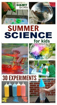 30 must try Summer Science activities that will WOW the kids and keep them engaged in learning. COOL outdoor experiments for Summer kids summer activities Summer Science for Kids Preschool Science, Science Experiments Kids, Science For Kids, Science Today, Science Fun, Science Ideas, Teaching Science, Science Classroom, Earth Science