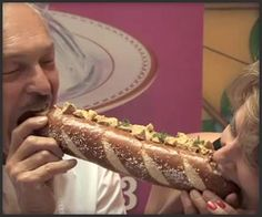 World's Most Expensive Hot Dog  At $69, Serendipity 3′s Foot-Long Haute Dog is the world's most expensive hot dog, grilled in white truffle oil, topped with foie gras, black truffles and caramelized onions, and placed in a pretzel bun.