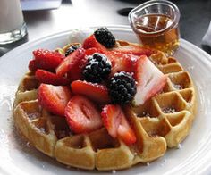 Delicious Strawberry Waffles
