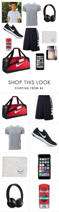 """""""Untitled #121"""" by smithfamily4 ❤ liked on Polyvore featuring NIKE, Simplex Apparel, Herschel Supply Co., County Of Milan, Beats by Dr. Dre, Old Spice, Calvin Klein, men's fashion and menswear"""