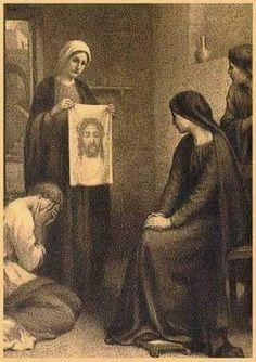 Veil Of Veronica, St Veronica, Catholic Art, Catholic Saints, Turin Shroud, Vintage Holy Cards, Jesus Christ Images, Jesus Face, Religious Pictures