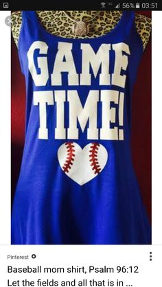 318cac5cee425 Game Time Baseball Tank by BaseballAlleyDesigns on Etsy