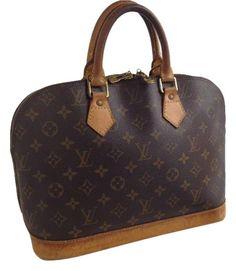 Louis Vuitton Alma 2 Way Ba0948 With Cross Body Lv Strap! Brown Monogram Satchel.