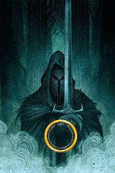 """""""Cover art by Johan Egerkrans for the 2019 Swedish editions of J. Tolkien's The Hobbit, The Lord of the Rings & The Silmarillion. Jrr Tolkien, Tolkien Books, Lord Of Rings, Fellowship Of The Ring, The Lord Of The Rings, Beau Film, Witch King Of Angmar, Arte Peculiar, O Hobbit"""