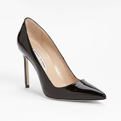 Rank & Style Top Ten Lists | Manolo Blahnik BB Patent Leather Point-Toe Pumps http://www.rankandstyle.com/top-10-list/best-basic-black-pumps/manolo-blahnik-bb-patent-leather-point-toe-pumps-2/ #rankandstyle