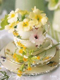 Flowers - Animationen am Telefon Flowers Gif, Beautiful Rose Flowers, Beautiful Gif, Love Flowers, Exotic Flowers, Good Morning Gif, Good Morning Greetings, Picture Borders, Glitter Gif