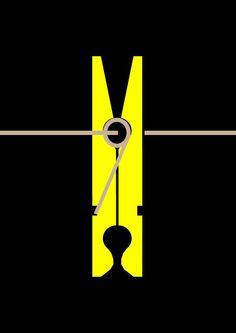equilibri color groc pinça estendre