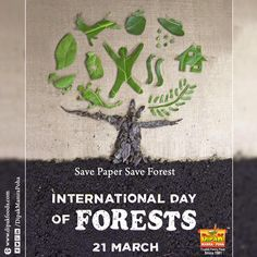 Save Paper Save Forest - Dipak Food International Day Of FORESTS - 21March  #dipakfood #Food  #Dipak