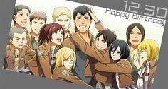 Happy Birthday Bertholdt!!!! You da man!!!! We love you no matter what!!!! Talk Berty to me XD