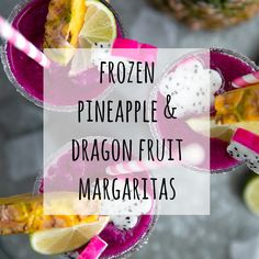 Frozen Pineapple Dragon Fruit Margaritas. Cold, crisp, and refreshing, these Frozen Pineapple Dragon Fruit Margaritas are the perfect solution for all those hot summer days and backyard BBQs. Swap the tequila for pineapple juice to make a healthy, fruit packed smoothie loved by both kids and adults! via @theforkedspoon #margarita #tequila #cocktail #frozenmargarita #drinkrecipe #dragonfruit   For this recipe and more visit, https://theforkedspoon.com/ via @theforkedspoon