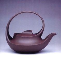 "Red ware or boccaro ware : China : Yixing earthenware ; made from zisha (purple sand) a local material. Not as white or as fine as kaolin, it needs no glazing and, after firing, the pottery is solid and impermeable, yet porous enough to ""breathe"". Pottery Teapots, Teapots And Cups, Ceramic Teapots, Ceramic Pottery, Pottery Art, Ceramic Art, Earthenware, Stoneware, Chinese Arts And Crafts"