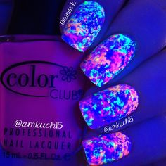 Best Nails Dark Design Nailart Awesome 36 Ideas - Beauty is Art Cute Acrylic Nails, Cute Nail Art, Cute Nails, My Nails, How To Do Nails, Oval Nails, Nail Art Strass, Glow Nails, Unicorn Nails