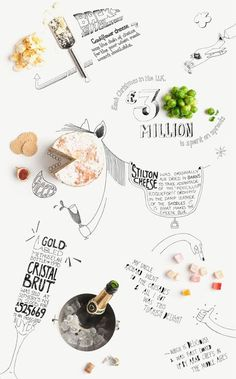 Food infographic  ACCENTS food styling: Gonzalo Azores x Barclaycard