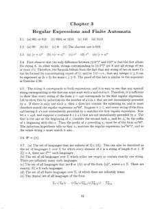 Theory of Computation: Chapter - 3 Regular Expressions and Finite Automata Solution Theory Of Computation, Regular Expression, Chapter 3, Automata