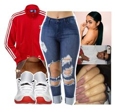 """"" by daeethakidd ❤ liked on Polyvore featuring adidas, Louis Vuitton and Retrò"