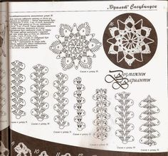 TRICO y CROCHET-madona-mía: Encaje de Brujas a Crochet-Aplicaciones de motivos-Gráficos