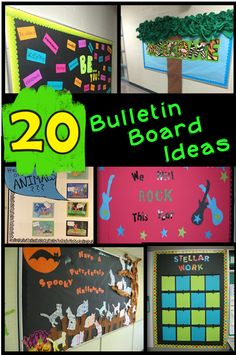 20 Fabulous bulletin board ideas for the classroom. Bulletin boards for all seasons, including Valentine's Day, Halloween, Back to School, Winter, and more. Check it out to find many free templates help create the DIY bulletin boards. School Displays, Classroom Displays, Classroom Themes, Classroom Organization, Free Teaching Resources, Teaching Activities, Teaching Ideas, Back To School Activities, September Activities