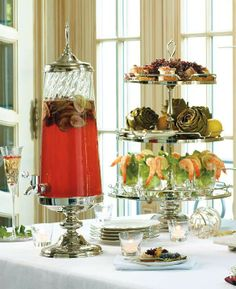Elegantly present your desserts, appetizers and drinks for your next party.