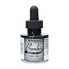 Amazon.com: Dr Martins Bombay India Ink 1 Oz Black