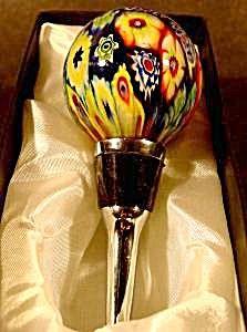 Bottle Stopper - Murano Glass - Millifiori