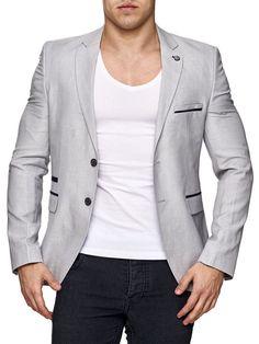 herrensakko sakko blazer jackett anzug slim fit elegant casual schwarz sportlich ideal fashion. Black Bedroom Furniture Sets. Home Design Ideas