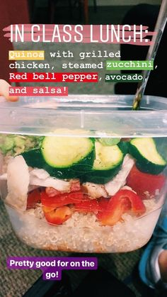 Would be great with rice too Lunch Meal Prep, Healthy Meal Prep, Healthy Snacks, Healthy Eating, Healthy Recipes, Clean Eating, I Love Food, Good Food, Yummy Food