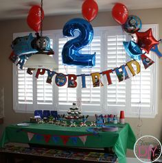 thomas the train themed birthday party | copied the candy train idea from Pinterest. The original link is ...