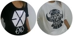DIY Kpop graphic shirts with fabric paint! Make your own Exo and Vixx fan shirts!