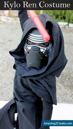 Brilliant! Make Kylo Ren's hood and cape using a scoodie (hooded scarf)! Perfect for boy costumes because it stays put. Easiest Kylo Ren costume tutorial I have seen.