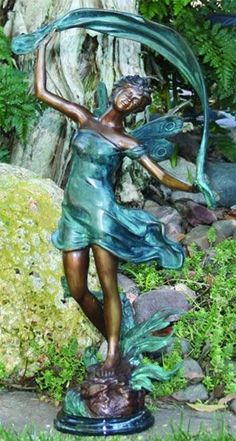 Beau Brass Dancing Fairy Statue