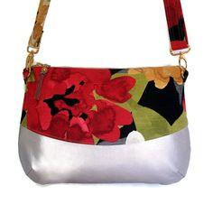 Floral Print Shoulder Bag Handbag Cross Body Purse  Faux by Nataty