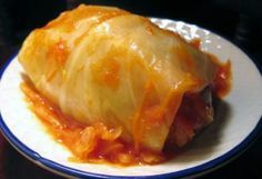Low Carb Cabbage Roll - made a few changes: added brown sugar to turkey sausage, added sautéed onions and soy sauce.