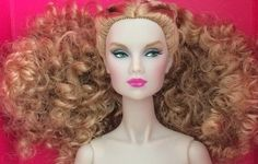 """HEAD ONLY FROM COME THRU TULABELLE - THE INDUSTRY 12-1/4"""" FASHION ROYALTY DOLL. Item #88002. Just perfect for one of a kind make-overs. HEAD ONLY! FROM THE 2017 INDUSTRY COLLECTION. a pretty image. 