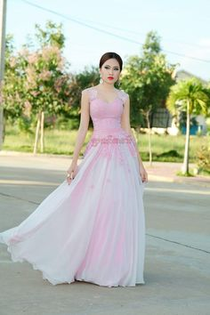 You Could Use This Las Gown To Join Khmer Wedding Celebration Program