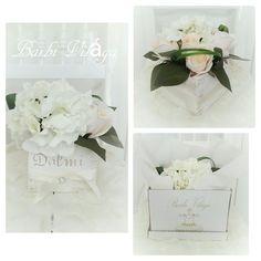 White Hydrangea silk flower giftbox<3 Barbi Világa