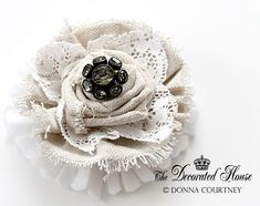 Gorgeous fabric flower tutorial