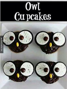 DIY Eulen Cupcakes *__*