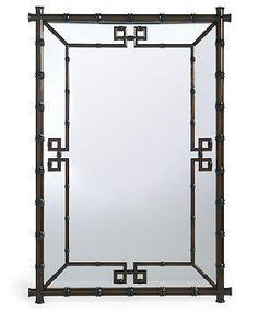 home hampstead mirror black faux bamboo mirror