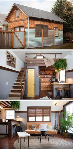 """Portland, OR, USA. Seen on the TV show """"Tiny House Nation"""", the 350 sq ft Rustic Modern Tiny House was designed and built by us, your friendly AirBNB hosts. Guest call it """"completely charming"""" and """"the perfect urban getaway"""".:"""