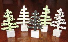 32 homemade stick xmas trees