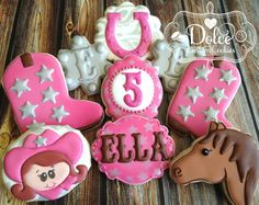 Hey, I found this really awesome Etsy listing at https://www.etsy.com/listing/203850748/cowgirl-horse-birthday-cookies