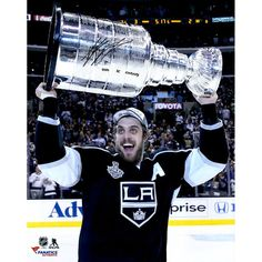 """Anze Kopitar Los Angeles Kings Fanatics Authentic Autographed 16"""" x 20"""" 2014 Stanley Cup Champions with Stanley Cup Photograph with SC Champs Inscription"""