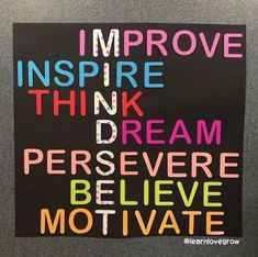May you have a MINDSET day! improve inspire think dream persevere believe motivate thursdaymotivation myjourneyoflove milliesfitjourney milliescaregivingjourney School Displays, Classroom Displays, Classroom Organization, Classroom Management, Book Displays, Library Displays, School Display Boards, Classroom Display Boards, School Board Decoration