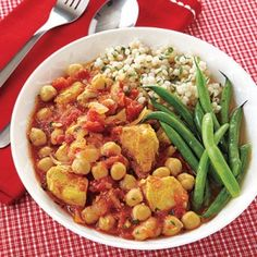 Recipe For  Curried Chicken and Chickpea Slow Cook Stew