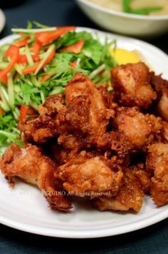 Karaage, Japanese fried chicken marinated in soy sauce and sake