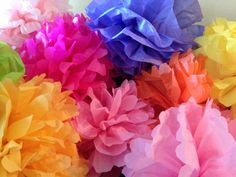 Learn how to make amazing DIY flowers with this roundup of handmade flower tutorials. Learn how to make paper flowers, fabric flowers and much more!: Make Colorful Paper Flowers from Tissue Paper Handmade Flowers, Diy Flowers, Flower Decorations, Fabric Flowers, Crochet Flowers, How To Make Paper Flowers, Large Paper Flowers, Tissue Paper Flowers, Diy Paper
