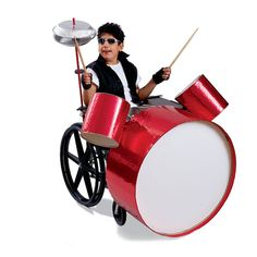 Rock 'n' Roll Drummer--cute idea for a youngin in a wheelchair :)