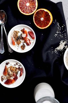 Earthsprout - Spelt Porridge with Sesame Milk Quick Easy Healthy Meals, Good Healthy Recipes, Brunch Recipes, Breakfast Recipes, Vegan Breakfast, Breakfast Time, Recipe Of The Day, Cooking Recipes, Cooking Tips